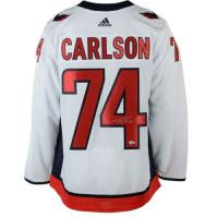John Carlson Signed Washington Capitals 2018 Stanley Cup Final Alternate Captain Jersey (Fanatics Hologram) at PristineAuction.com