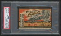 Authentic 1948 Indianapolis 500 Ticket Stub (PSA Encapsulated)