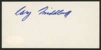 Cary Middlecoff  Signed 2.5x5 Index Card (JSA COA)
