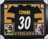 James Conner Signed Pittsburgh Steelers 35x43 Custom Framed Jersey (Beckett COA)