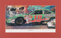Bobby Labonte Signed LE 14x22.25 Custom Matted Lithograph Display (JSA COA)