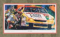 Terry Labonte Signed LE 13.5x21.5 Custom Matted Lithograph Display (JSA COA)