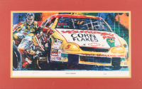 Terry Labonte Signed LE 14x22.25 Custom Matted Lithograph Display (JSA COA)