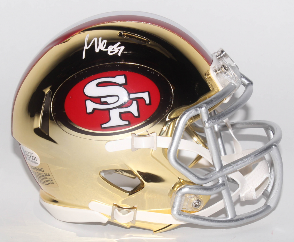 7c9545e33 George Kittle Signed San Francisco 49ers Chrome Speed Mini-Helmet (Beckett  COA)