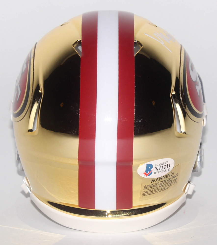 cab8b775c George Kittle Signed San Francisco 49ers Chrome Speed Mini-Helmet (Beckett  COA) at