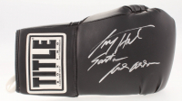 Larry Holmes Signed Title Boxing Glove with Inscription (JSA COA)