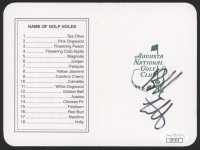 "Bubba Watson Signed ""The Masters"" Augusta National Golf Club Score Card (JSA COA)"