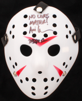 """Ari Lehman Signed """"Friday the 13th"""" Jason Voorhees Mask Inscribed """"No Lives Matter!"""" & """"Jason 1"""" (PA COA) at PristineAuction.com"""