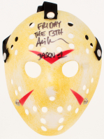 """Ari Lehman Signed """"Friday the 13th"""" Jason Voorhees Mask Inscribed """"Friday The 13th"""" & """"Jason 1"""" (PA COA) at PristineAuction.com"""