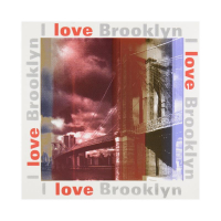 "Steve Kaufman Signed ""I Love Brooklyn"" Limited Edition 20x20 Silkscreen on Canvas #35/50 at PristineAuction.com"