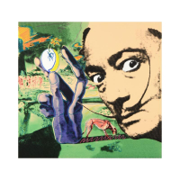"Steve Kaufman Signed ""Dali"" Hand Embellished Limited Edition 25x25 Silkscreen on Canvas #28/50 at PristineAuction.com"