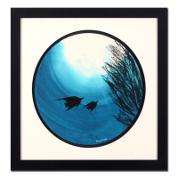 "Wyland Signed ""Tropical Fish"" 28x28 Custom Framed Original Watercolor Painting"