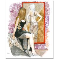 "Lena Sotskova Signed ""Reflection"" 17x14 Mixed Media Original Painting at PristineAuction.com"