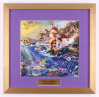 "Thomas Kinkade Walt Disney's ""The Little Mermaid"" 17.5x18 Custom Framed Print"