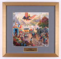 "Thomas Kinkade Walt Disney's ""Dumbo"" 17.5x18 Custom Framed Print Display"