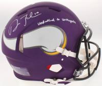 "Adam Thielen Signed Minnesota Vikings Full-Size Custom Matte Authentic On-Field Speed Helmet Inscribed ""Undrafted to Unstoppable"" (TSE COA)"