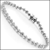0.58 CT Diamond Designer Heart Bracelet