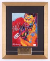 Mike Tyson Signed 14x17 Custom Framed LeRoy Neiman Print Display (JSA COA)
