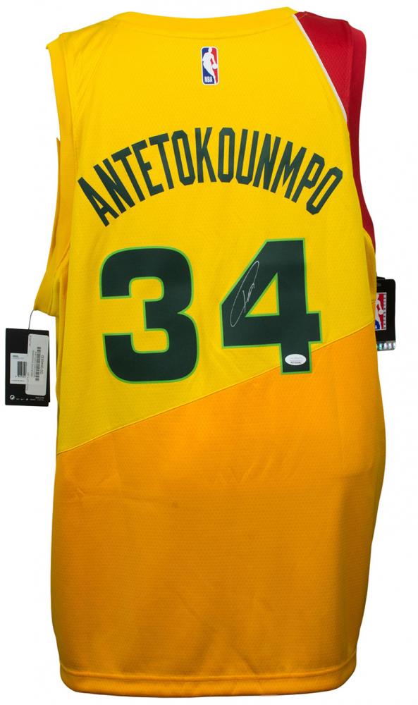 c761ffe40 Giannis Antetokounmpo Signed Milwaukee Bucks Jersey (JSA COA) at  PristineAuction.com