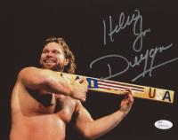 "Jim Duggan Signed WWE 8x10 Photo Inscribed ""Hacksaw"" (JSA COA)"