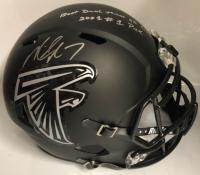 "Michael Vick Signed Atlanta Falcons Full-Size Speed Helmet Inscribed ""Best Dual Threat QB Ever"" & ""2001 #1 Pick"" (PSA COA)"