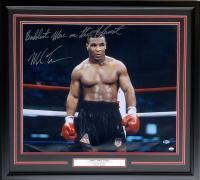 "Mike Tyson Signed 25x30 Custom Framed Photo Display Inscribed ""Baddest Man on the Planet"" (Beckett Hologram & SI COA)"