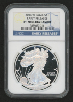 "2014 American Eagle ""Early Releases"" Silver Dollar $1 Coin (NGC PF70 Ultra Cameo)"
