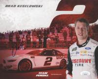 Brad Keselowski Signed NASCAR 8x10 Hero Card (JSA COA)
