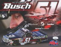 Kyle Busch Signed NASCAR 8x10 Hero Card (JSA COA)
