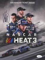 Alex Bowman, Jimmie Johnson & William Byron Signed 2018 NASCAR Heat 3 8x10 Hero Card (JSA COA)