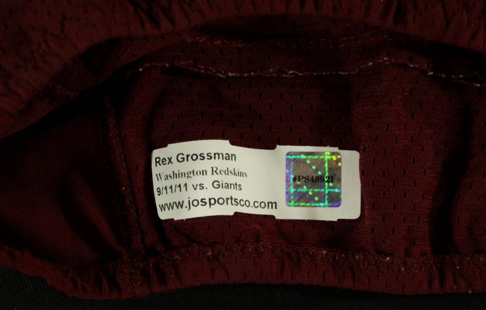 rex grossman redskins jersey