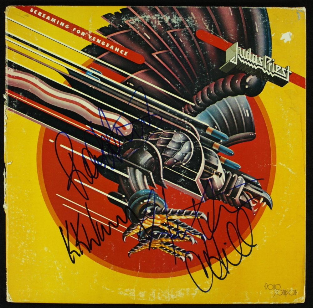 Judas Priest Screaming For Vengeance Record Album Signed By 4