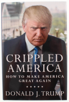 "Donald Trump Signed ""Crippled America"" Hardcover Book (Premiere Collectibles COA)"