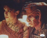 """Chase Masterson & Max Grodenhik Signed """"Star Trek: Deep Space"""" 8x10 Photo With Inscriptions (JSA COA)"""