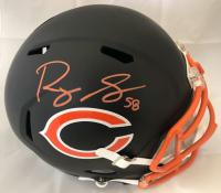 Roquan Smith Signed Chicago Bears Full-Size Black Matte Speed Helmet (Beckett COA)