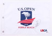 "Rory McIlroy Signed 2019 ""U.S. Open"" Pebble Beach Golf Pin Flag (Beckett COA)"