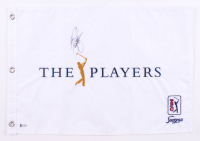 """Rickie Fowler Signed """"The Players"""" Golf Pin Flag (Beckett COA)"""
