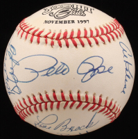 3,000 Hit Club ONL Baseball Singed by (12) With Lou Brock, Rod Carew, Hank Aaron, Eddie Murray (JSA ALOA)