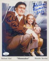 "Richard Kiel & Blanche Ravelac Signed ""Moonraker"" 8x10 Photo Inscribed ""Jaws"" & ""Dolly"" (JSA COA)"