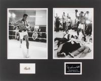 Muhammad Ali 16x20.25 Custom Matted Cut Display with (1) Hand-Written Word from Letter (JSA LOA)
