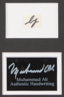 Muhammad Ali 16.25x20.25 Custom Matted Cut Display with (1) Hand-Written Word from Letter (JSA LOA) at PristineAuction.com