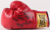 "Larry Holmes Signed Everlast Boxing Glove Inscribed ""75-69-6"", ""44KO"", ""2007""(Beckett COA)"