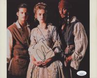 """Johnny Depp, Orlando Bloom & Keira Knightley Signed """"Pirates of the Caribbean"""" 8x10 Photo (JSA COA)"""