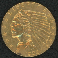 1908 Indian Head $2.50 Gold Coin