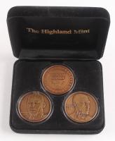 Set of (3) Commemorative LE 1998 Chicago Bulls Coins in Display Case with Michael Jordan & Scottie Pippen
