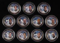 Set of (11) Yankees Stadium Inaugural Season Colorized New York Statehood Quarters with Derek Jeter, Alex Rodriguez, Mariano Rivera, Andy Pettitte, Hideki Matsui