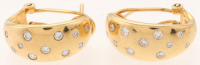 EON Jewellers Yellow Gold Earrings with Round Diamond Accents