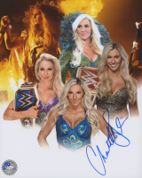 Charlotte Flair Signed WWE 8x10 Photo (Pro Player Hologram)