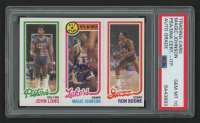 Magic Johnson Signed 1980-81 Topps #111 88 John Long / 18 Magic Johnson All-Star / 237 Ron Boone (PSA Encapsulated)