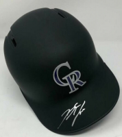 Nolan Arenado Signed Colorado Rockies Matte Black Full-Size Batting Helmet (Fanatics Hologram & MLB Hologram) at PristineAuction.com